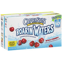 CapriSun Flavored Roarin' Waters Wild Cherry Water Beverage 10 Ct/6 Fl Oz