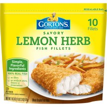 Gortons Crunchy Breaded Lemon Herb 10 Ct Fish Fillets