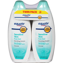 Equate Sensitive Skin Unscented Body Wash (Pack of 2)
