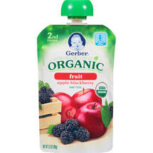 Gerber 2nd Foods Organic Fruit Apple Blackberry Baby Food