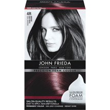 John Frieda Precision Foam Colour 4R Radiant Red Dark Red Brown