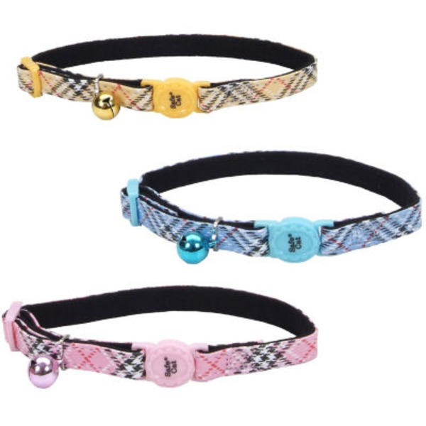 Coastal Pet 3/8 Inch Safe Cat Fashion Plaid Collar