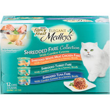 Fancy Feast Elegant Medleys Shredded Fare Collection Cat Food