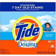 Ultra Tide Plus a Touch of Downy Clean Breeze Powder Laundry Detergent