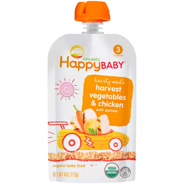 Happy Baby/Family Hearty Meals Harvest Vegetables & Chicken with Quinoa Stage 3 Organic Baby Food