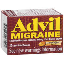 Advil Solubilized Ibuprofen Capsules 200 Mg Pain Reliever(Nsaid) Advil Migraine