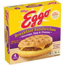 Kellogg's Eggo Sausage Egg & Cheese Breakfast Sandwiches