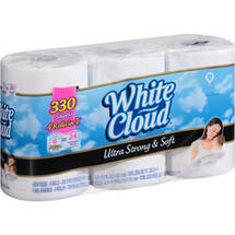 White Cloud Ultra Strong and Soft Bath Tissue