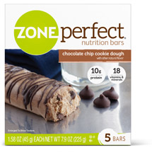 ZonePerfect Cookie Dough Nutrition Bars Chocolate Chip