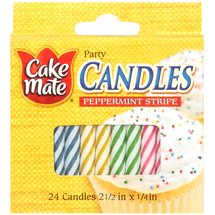 Cake Mate Peppermint Stripe Candles