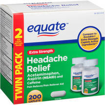Equate Extra Strength Headache Relief Pain Reliever (Pack of 2)