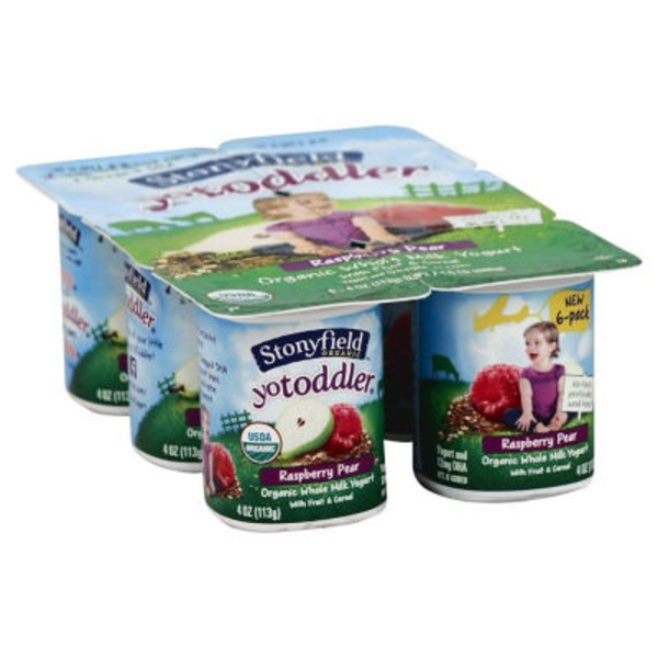 Stonyfield Organic Raspberry Pear Whole Milk Organic Yogurt
