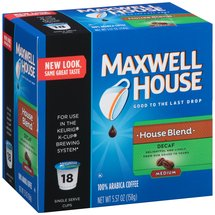 Maxwell House Cafe Collection Decaf House Blend 100% Arabica Coffee K-Cups