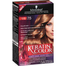 Schwarzkopf Keratin Color Anti-Age Hair Color Kit 7.5 Caramel Blonde