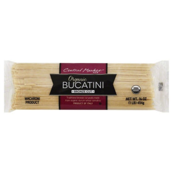 Central Market Organic Bucatini Bronze Cut Pasta