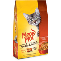 Meow Mix Tender Centers Salmon & White Meat Chicken Flavors Cat Food