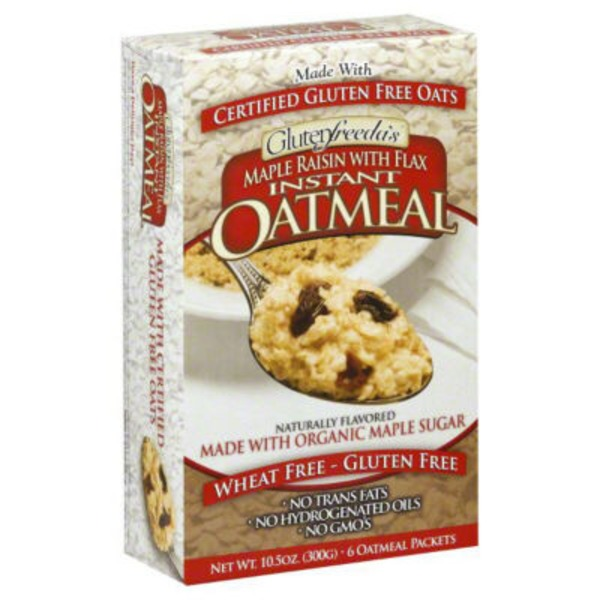 Glutenfreeda Wheat Free Gluten Free Instant Oatmeal Maple Raisin With Flax