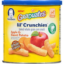 Gerber Graduates Lil' Crunchies Apple & Sweet Potato Whole Grain Corn Snack