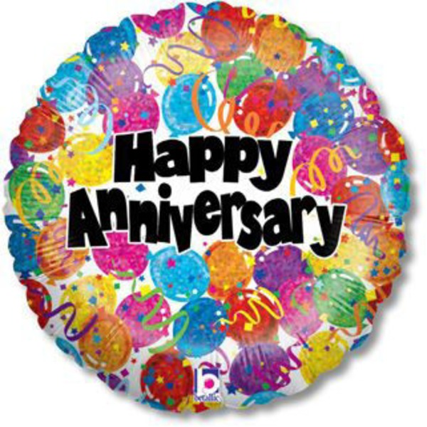 Mylar 18 inch Happy Anniversary Balloon