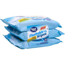 Great Value Fresh Scent Flushable Wipes Refills