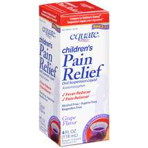 Equate Children's Pain Relief Oral Suspension Liquid Grape Flavor Fever Reducer/Pain Reliever
