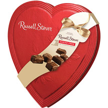 Russell Stover Valentine Sugar Free Chocolate Candies Heart Box