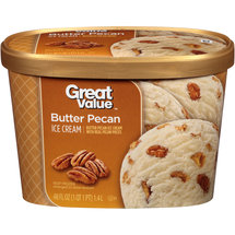 Great Value Butter Pecan Ice Cream