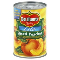 Del Monte Lite Sliced Yellow Cling in Extra Light Syrup Peaches