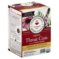 Traditional Medicinals Seasonal Teas Organic Throat Coat Lemon Echinacea Tea Bags - 16 CT