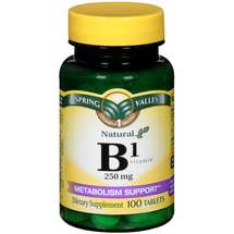 Spring Valley Natural Metabolism Support B1 Vitamin Dietary Supplement