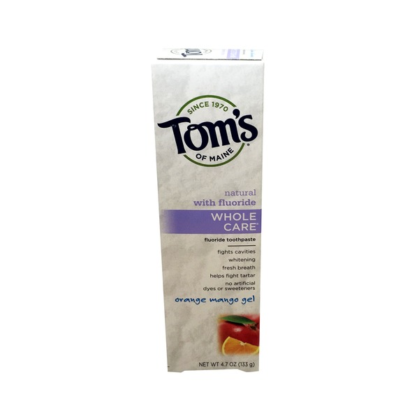 Toms of Maine Fluoride Toothpaste, Orange Mango, Gel