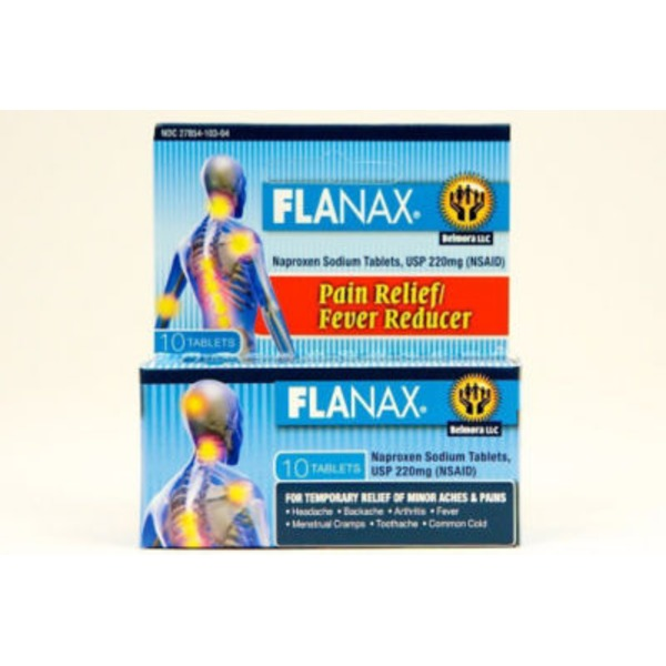 Flanax Naproxen Sodium 220 Mg Pain Reliever/Fever Reducer Tablets