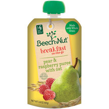 Beech-Nut Pear & Raspberry Puree with Oat Homestyle Fruit Blend with Whole Grain