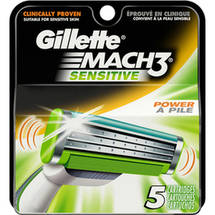 Gillette MACH3 Sensitive Power Men's Razor Blade Refills