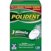 Polident 3 Minute Tablets Denture Cleanser