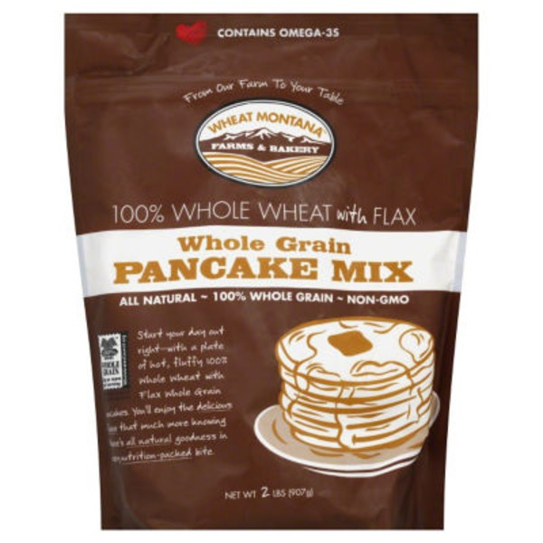 Wheat Montana Pancake Mix, Whole Grain, Whole Wheat with Flax, Pouch