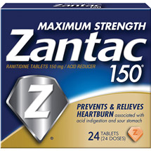 Zantac Maximum Strength Acid Reducer 150Mg