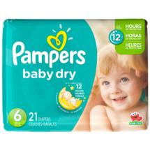 Pampers Baby Dry Diapers  Size 6