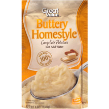 Great Value Buttery Homestyle Complete Potatoes
