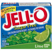 Jell-O Sugar Free Low Calorie Lime Gelatin Dessert
