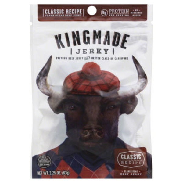 Kingmade Beef Jerky, Premium, Flank Steak, Classic Recipe