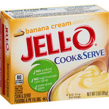 Jell-O Banana Cream Cook & Serve Pudding & Pie Filling