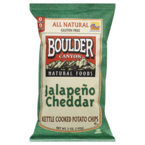 Boulder Canyon Kettle Cooked  Jalapeño Cheddar Potato Chips