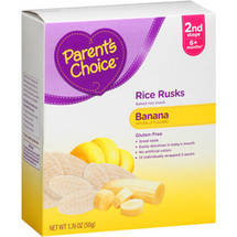 Parent's Choice  Rice Rusks Banana