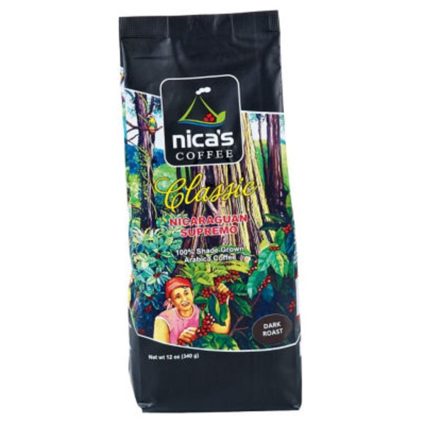 Nica's Coffee Classic Nicaraguan Supremo Ground Dark Roast Coffee