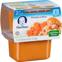 Gerber 2nd Foods Nature Select Chicken & Rice Dinner