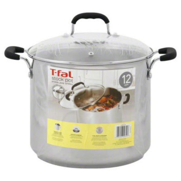 T-Fal 12 Quart Stock Pot Stainless Steel
