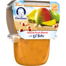 Gerber 3rd Foods Island Fruit Blend Fruit Puree with Lil' Bits