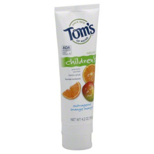 Tom's of Maine Children's Fluoridge Toothpaste Outrageous Orange Mango