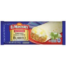 El Monterey Shredded Steak & Cheese Burrito